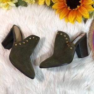 Michael Kors Louise Block‑heel Mules Shoes 7M